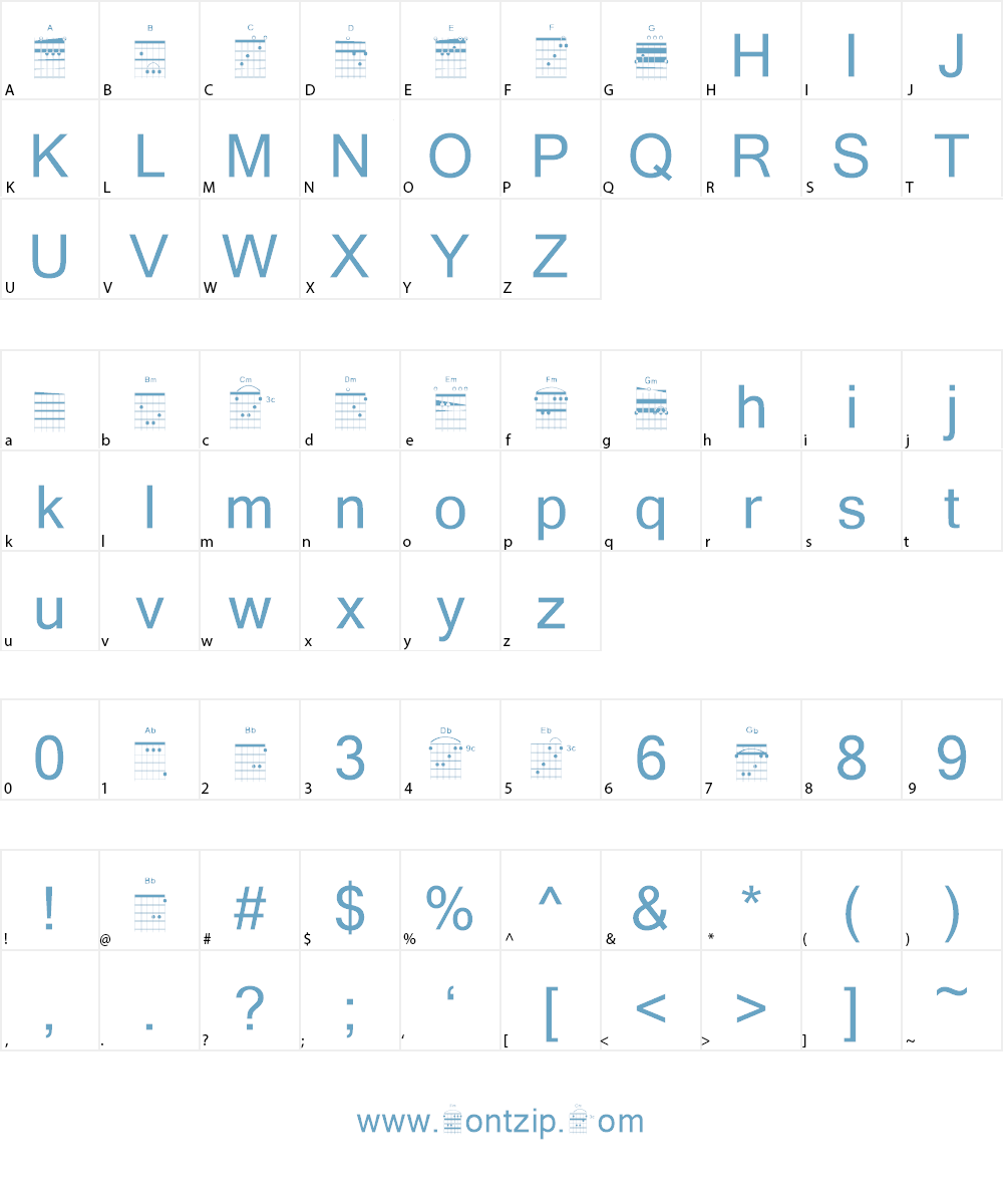 Accords Font Character