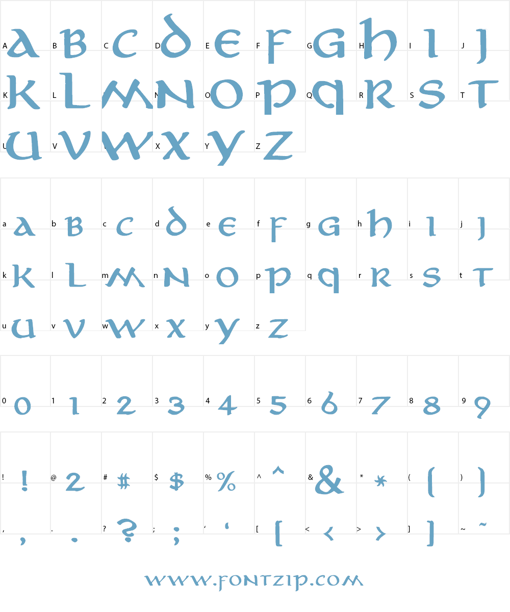 Aniron Font Character