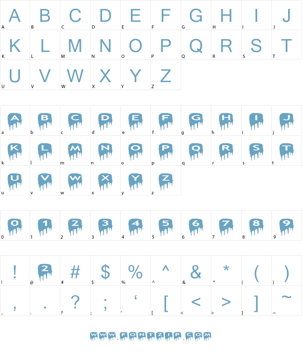 AlphaShapes meltdowns reverse Font Character