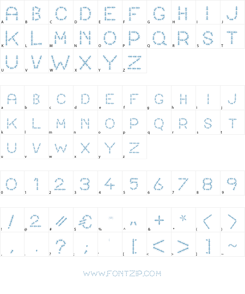 ANTY Font Character