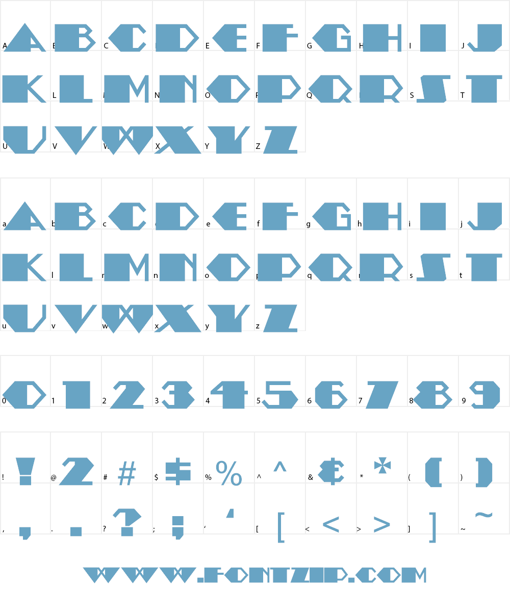 Amstel Heavy NF Font Character