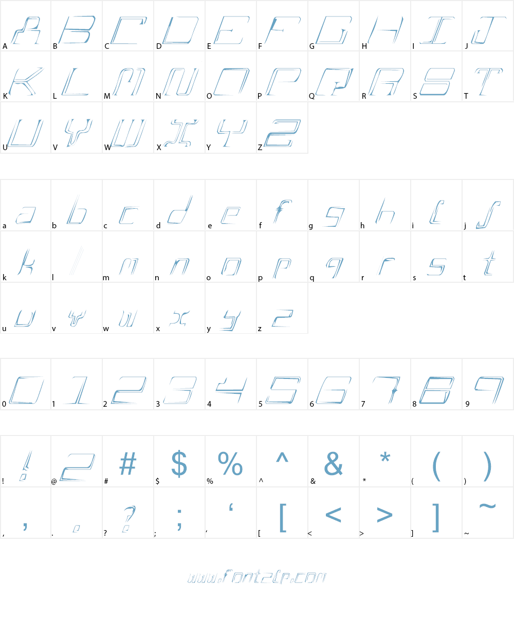A Scratch Font Character