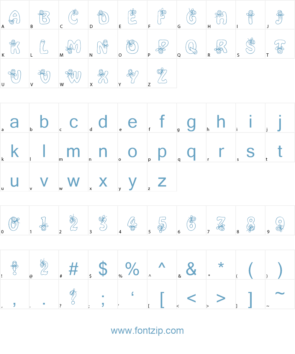 Alpha Remember Font Character