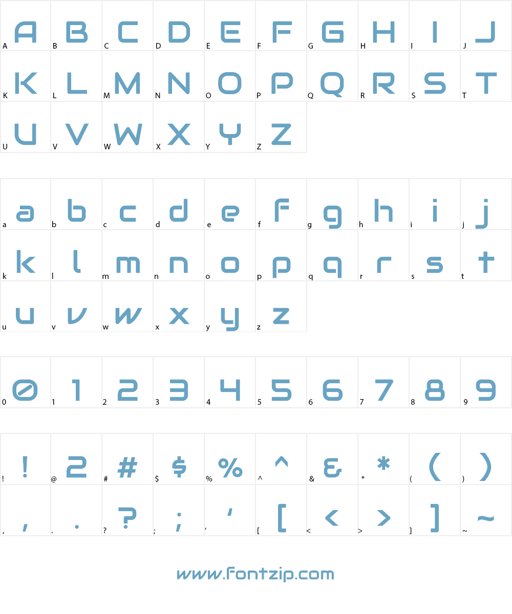 Audiowide Font Character