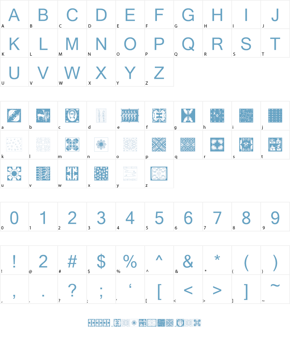 AfricanPattern Font Character
