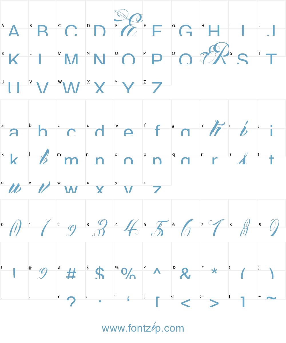 Anha Queen demo version Font Character