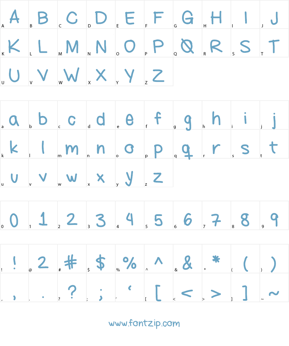 ayanez1 Font Character