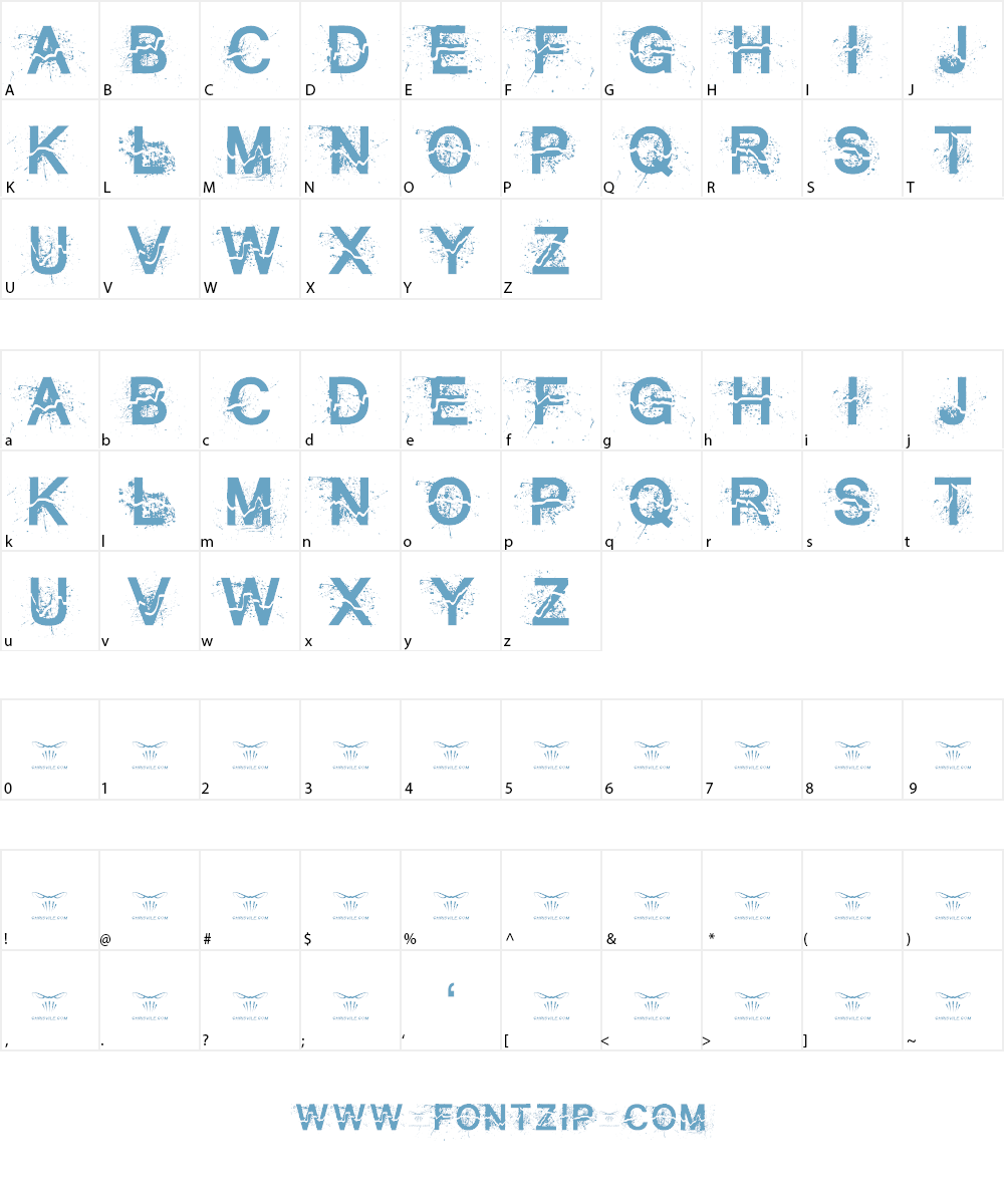 All Cracked Out Font Character