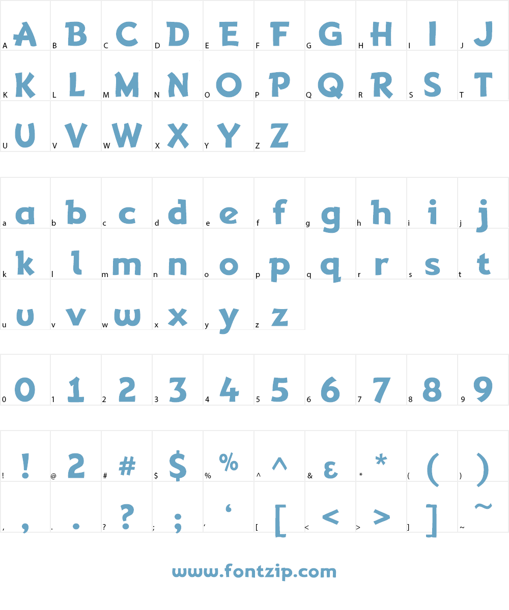 Adventuring Font Character