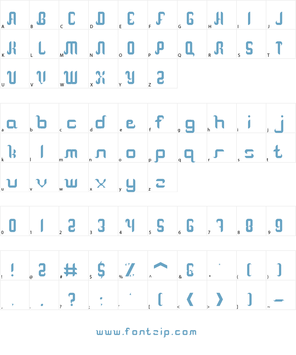 another calm sickle Font Character