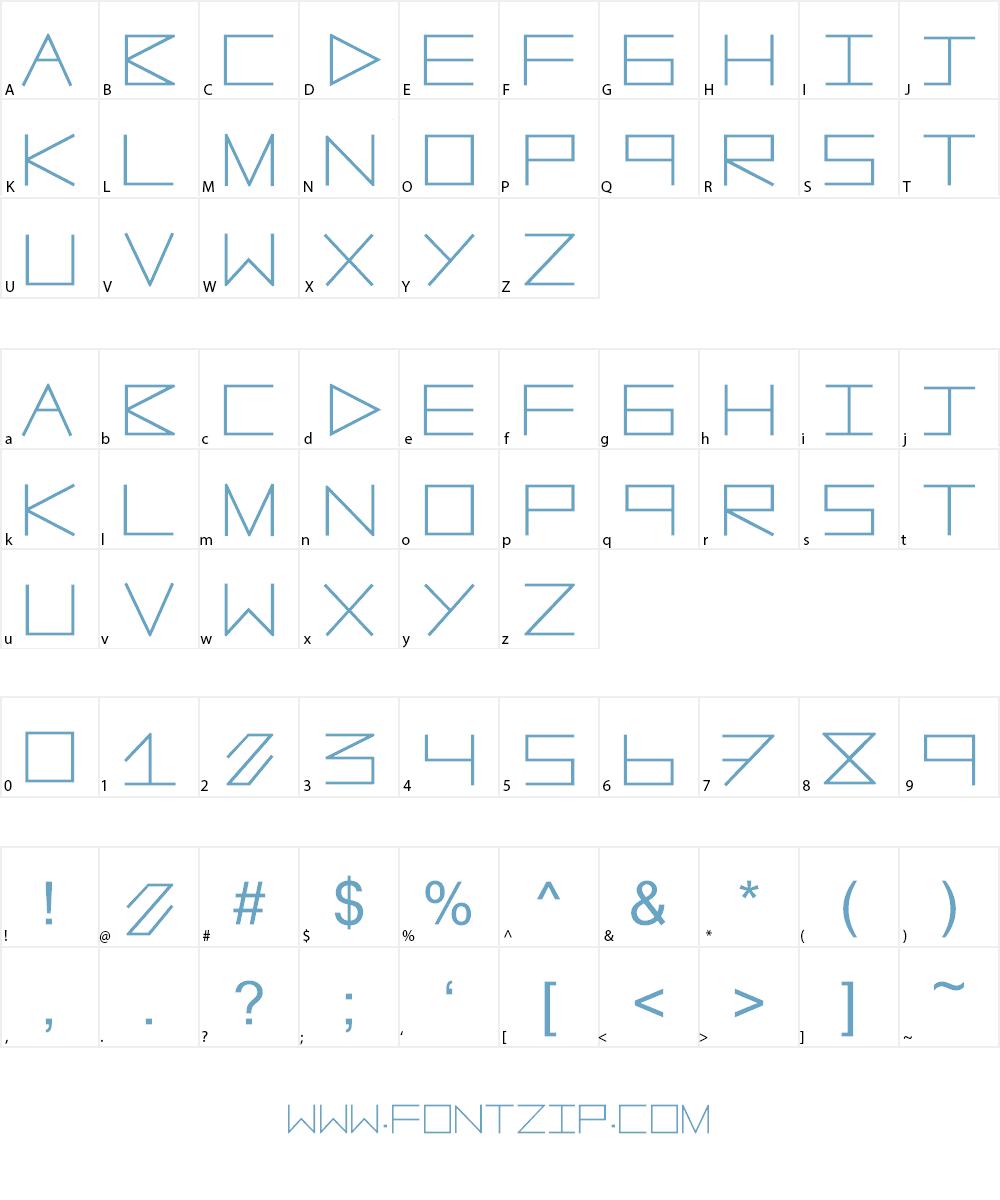 AnotherLine Font Character
