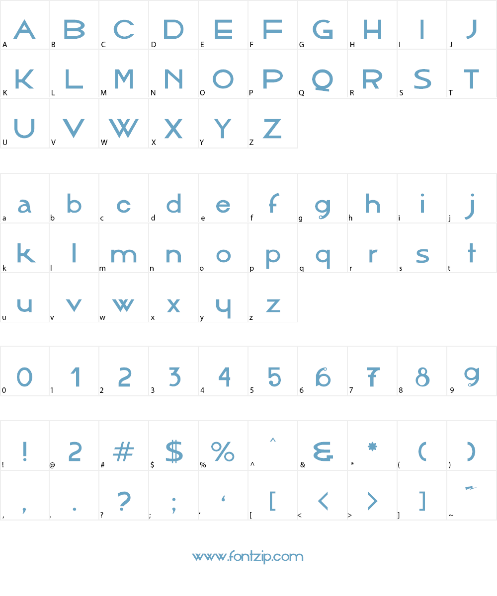 AlbergueBoaVontade Font Character