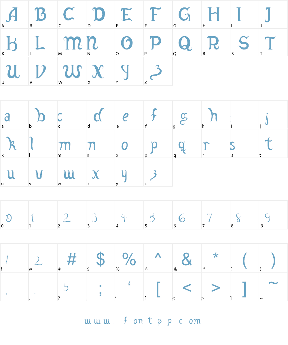 Adamstype Font Character